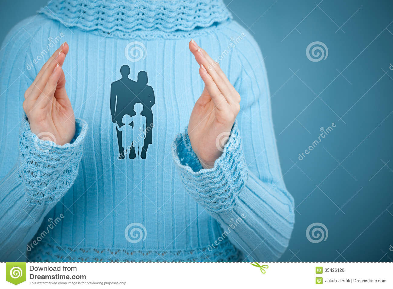 Family Life Insurance And Policy Stock Photo - Image of ...