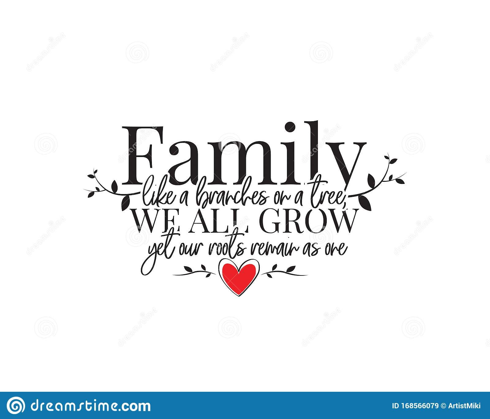 Family Like Branches On A Tree Vinyl Decal Wall Sticker Words Lettering Quote