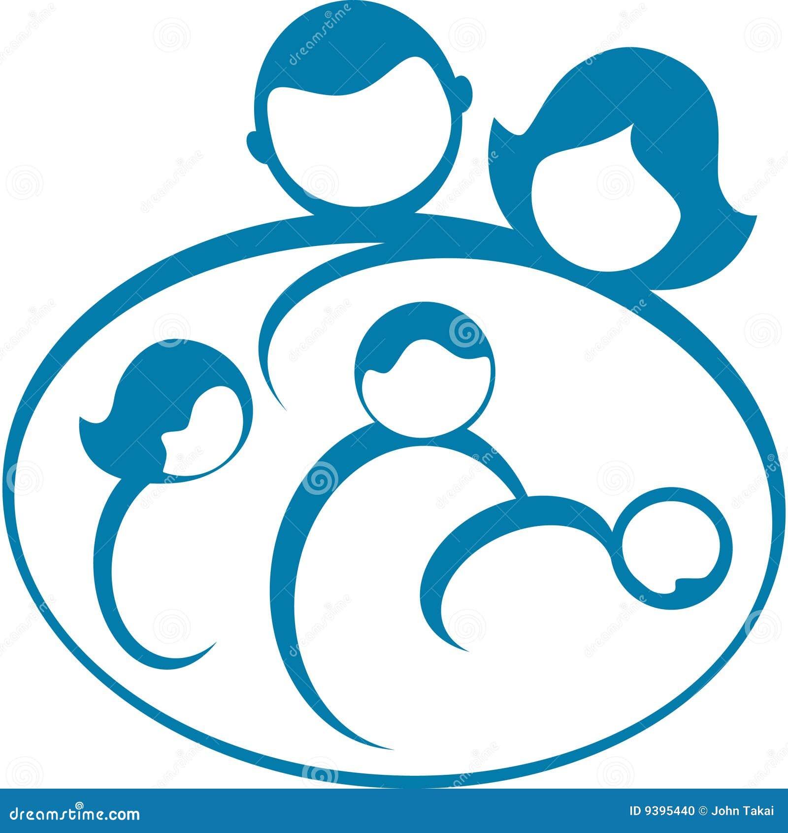 Family Logo Stock Vector Illustration Of Family Symbol 9395440