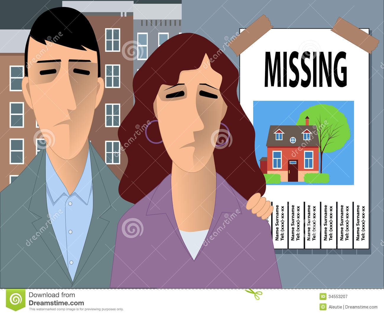 Family Looking For A Home Stock Vector Image Of Looking