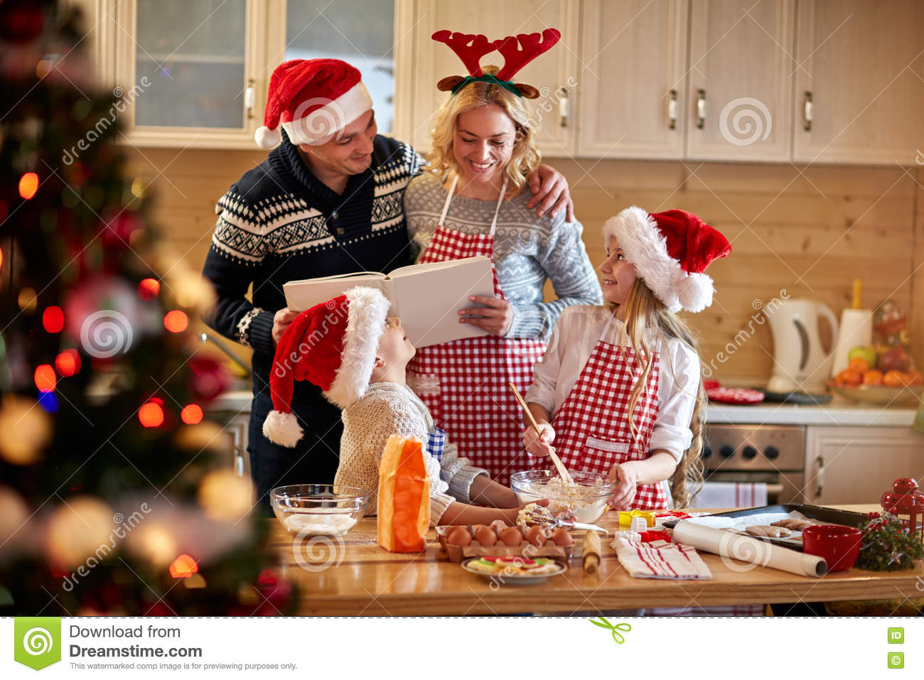 download family making christmas cookies at home stock image image of life happy - Making Christmas Cookies