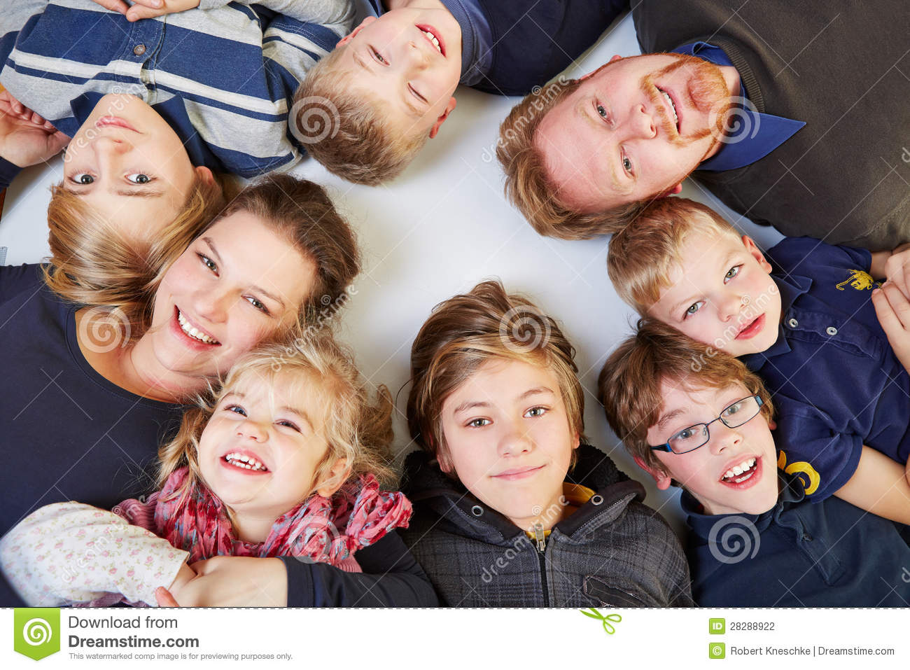 family with many children stock photo image of group. Black Bedroom Furniture Sets. Home Design Ideas
