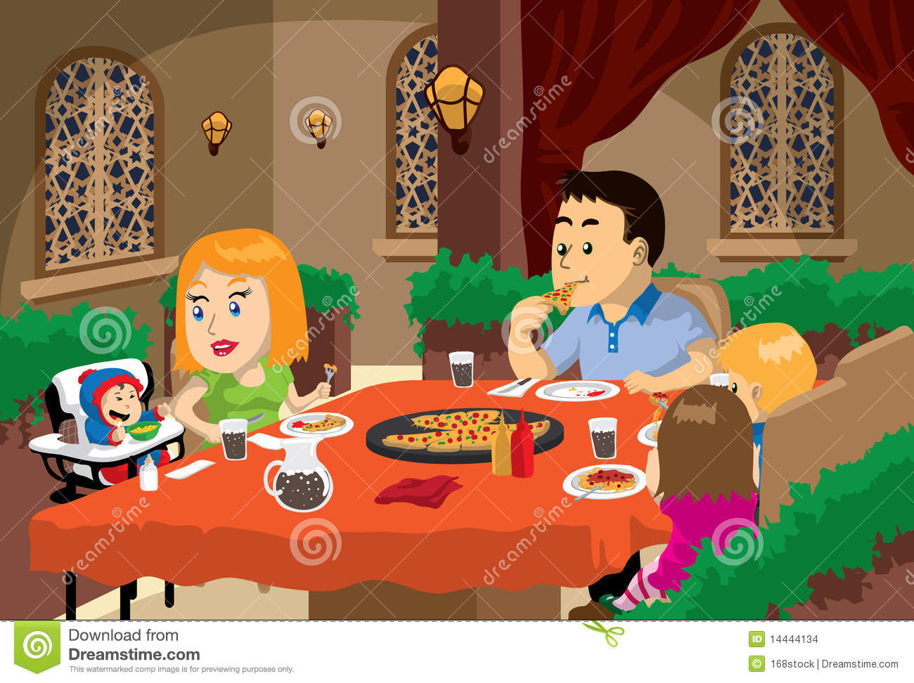 Family Meal Time Stock Images  Image: 14444134