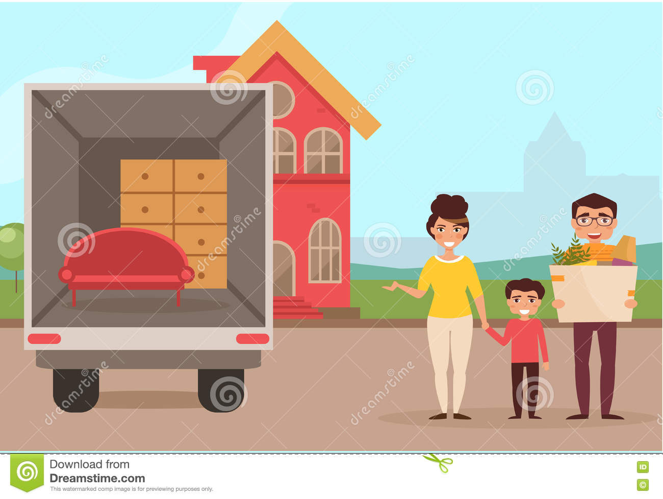 Moving house cartoon pictures the best cart When is the best time to move house