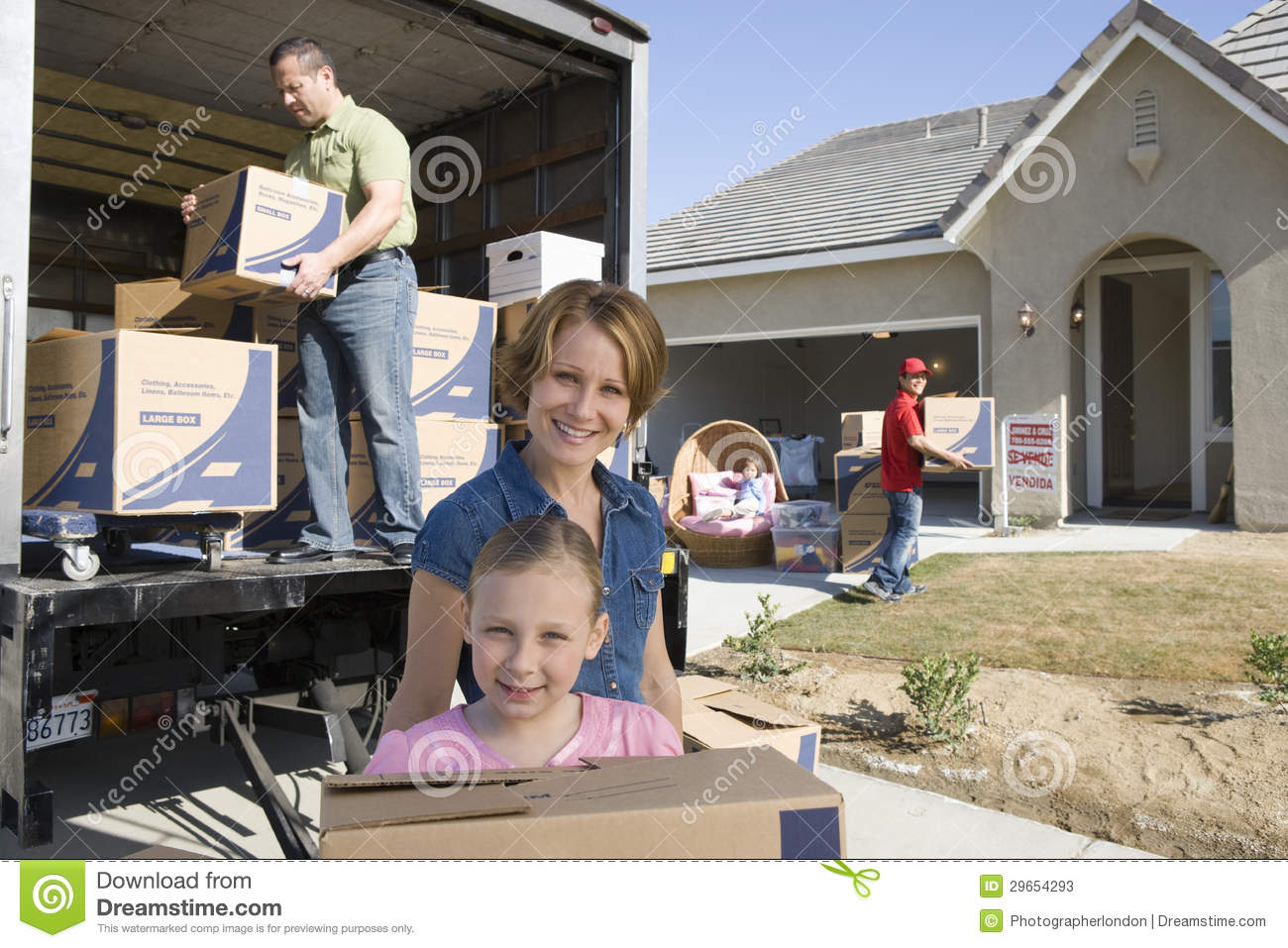 Family moving into new house stock image image 29654293 for How to move a building