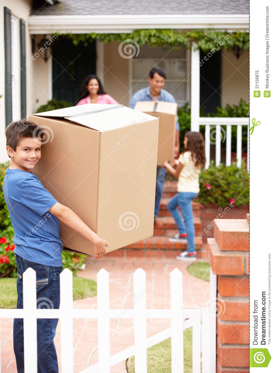 Family Moving House Stock Photo 5861112