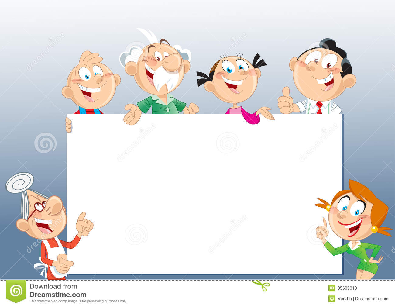 Cute Family Picture Frame Clipart