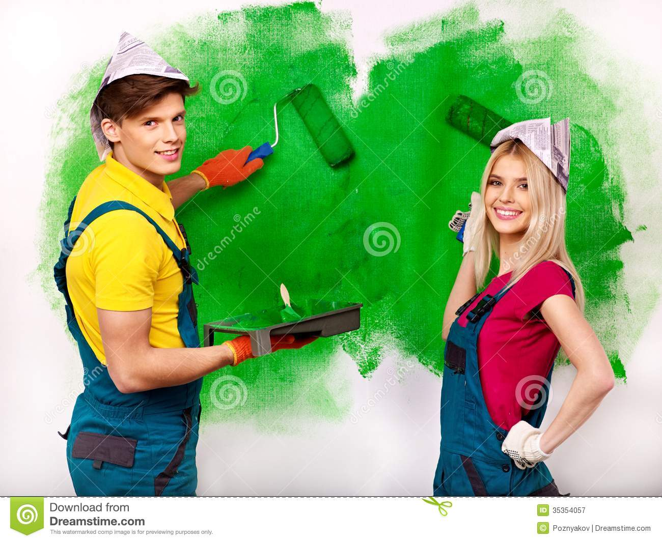 family paint wall at home royalty free stock photography image