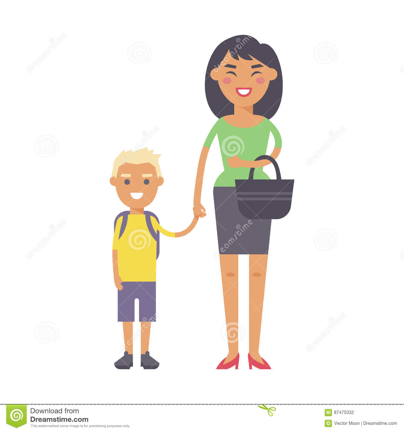 Family people adult happiness smiling mother with son togetherness parenting concept and casual parent, cheerful