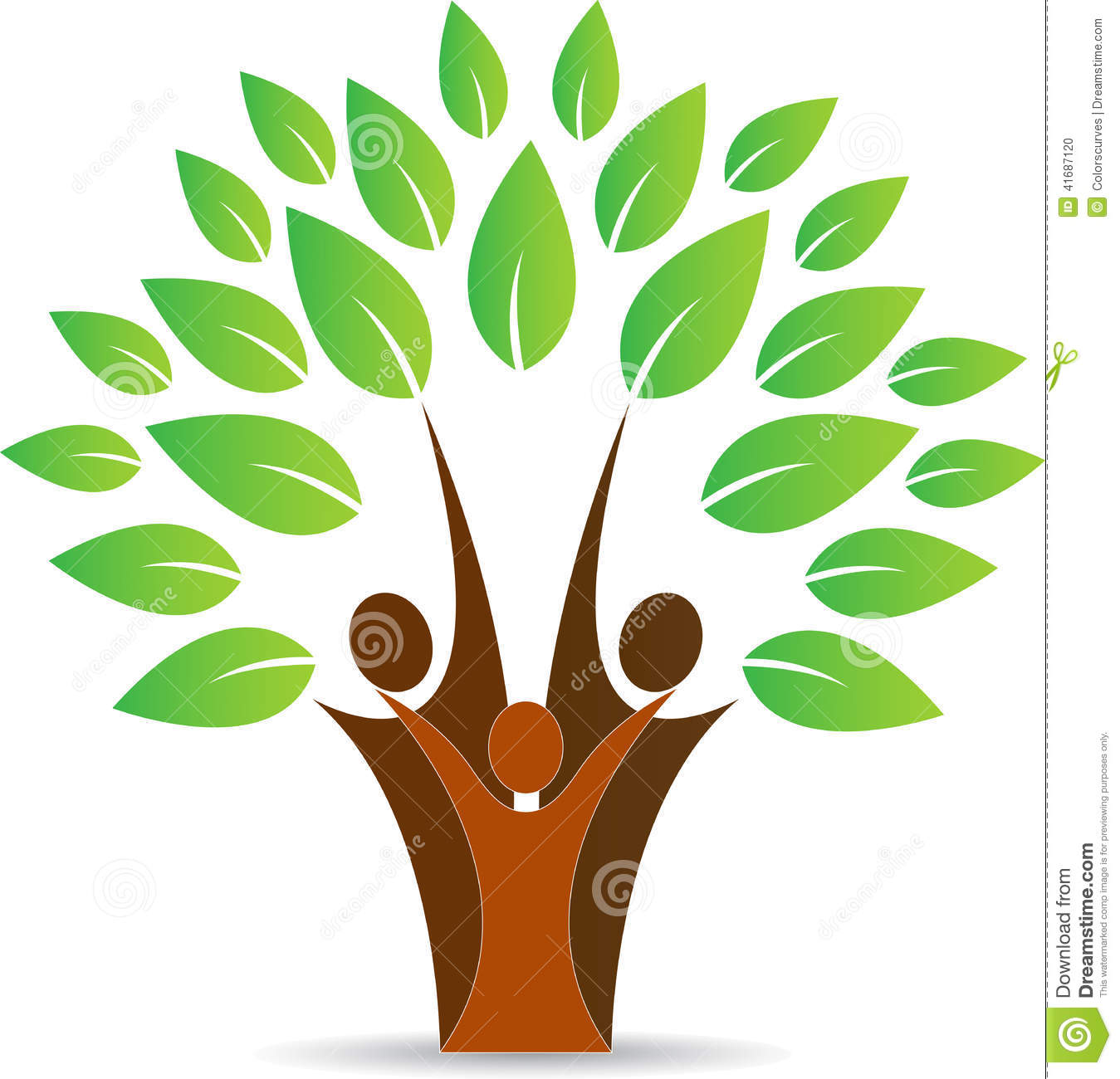 vector drawing represents family people tree design.