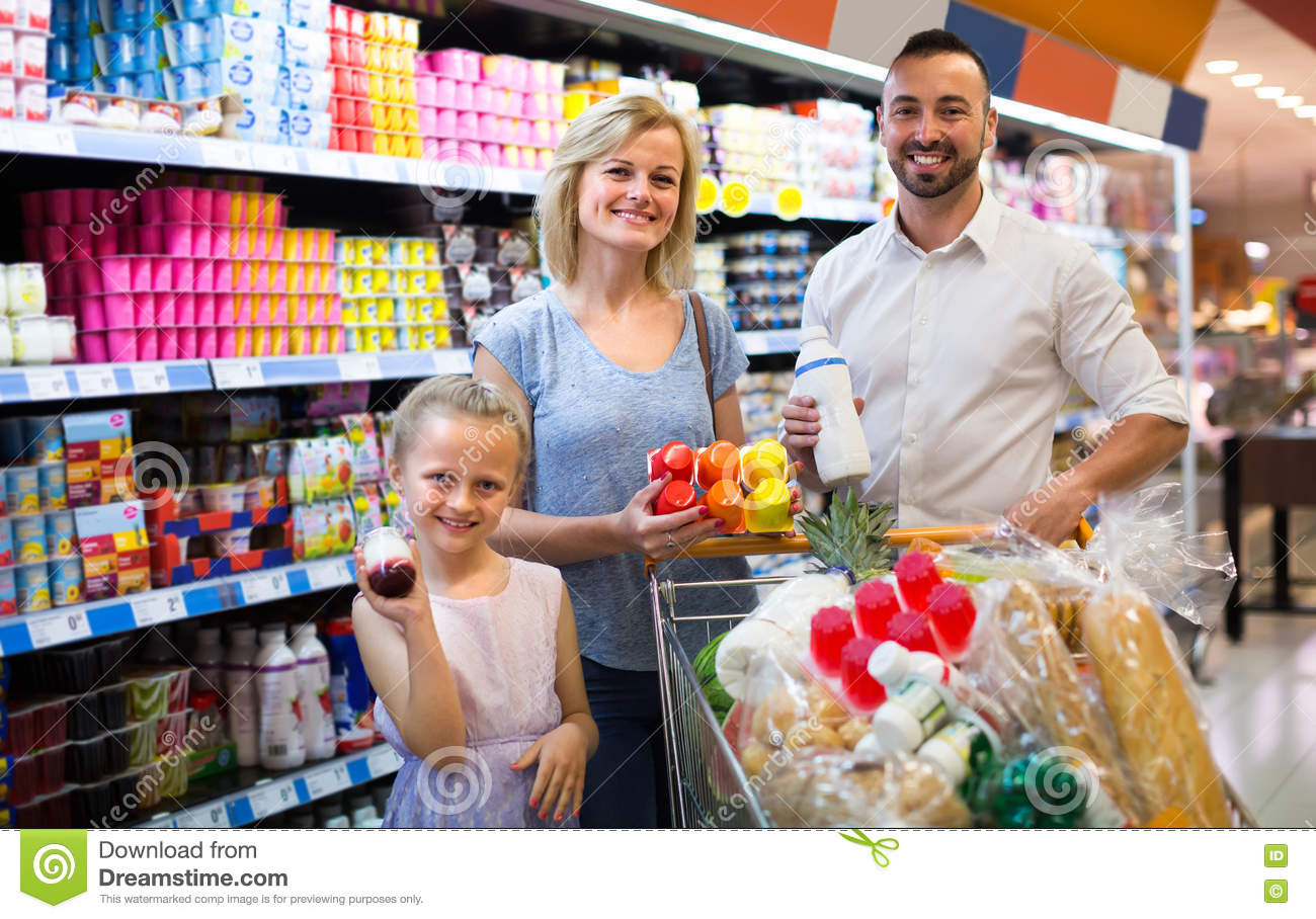 Child Picking Food From Store