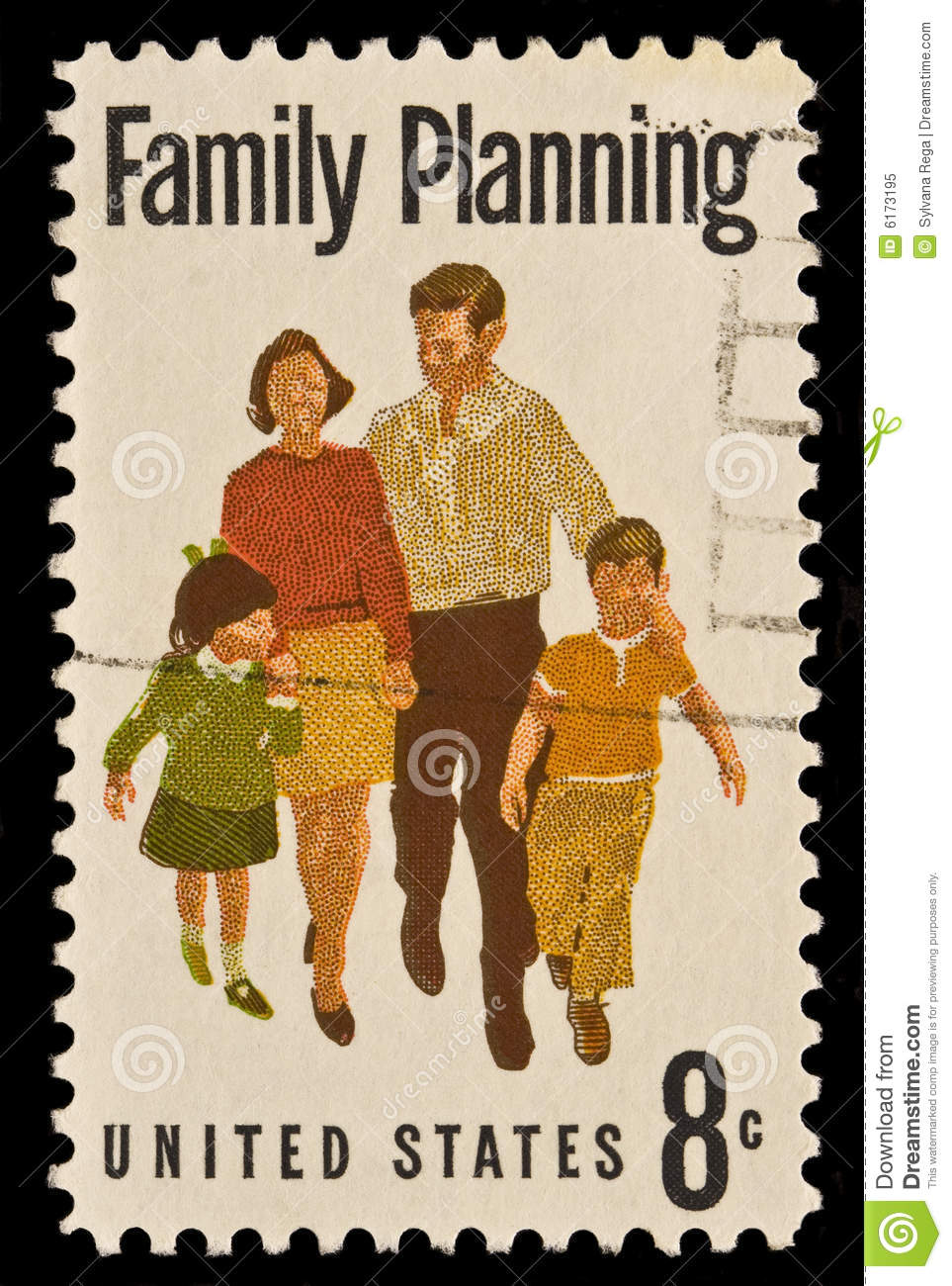 Family planning postal stamp royalty free stock photo Family planning com