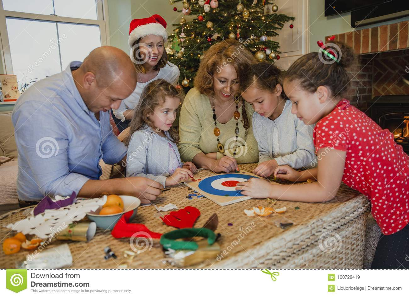 playing board games at christmas - Family Games To Play At Christmas