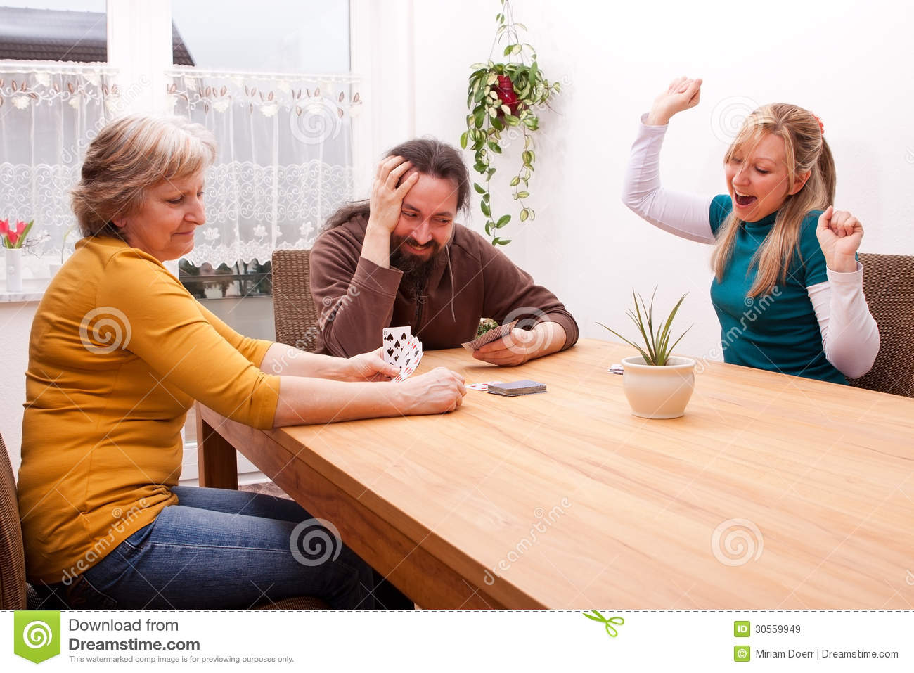 Family is playing games and having fun