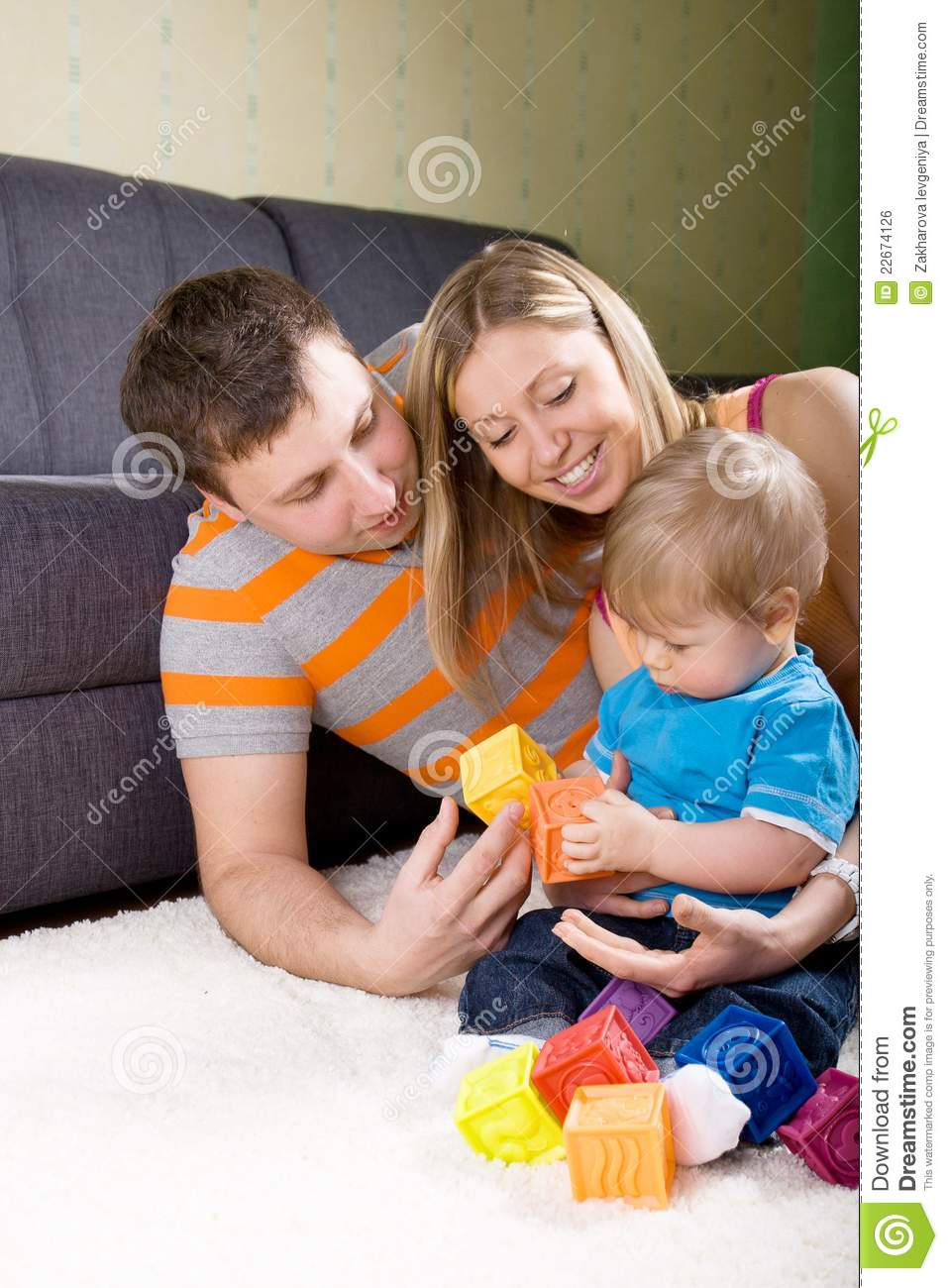 Family Playing Together Royalty Free Stock Image Image