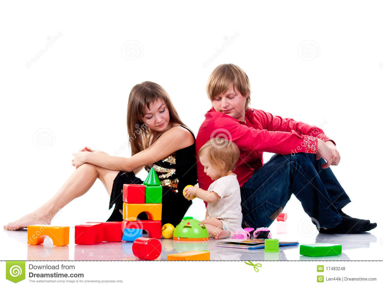 Toys For Family : Family playing with toys royalty free stock photos image