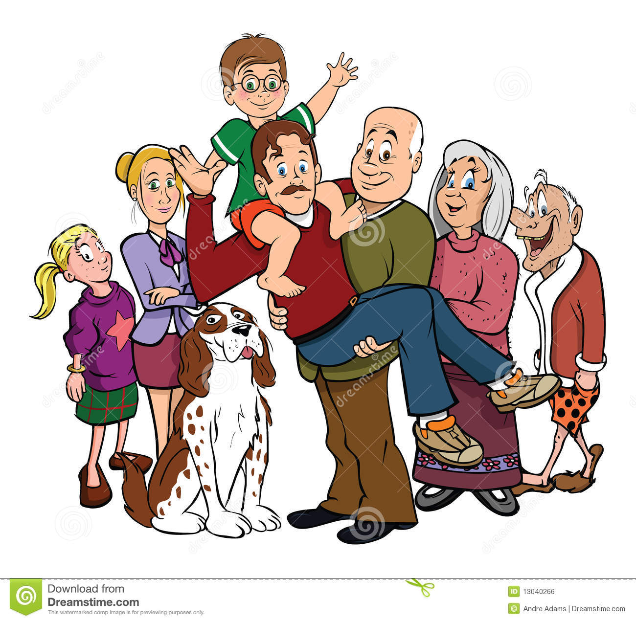 Family Portrait Reunion Royalty Free Stock Image - Image: 13040266