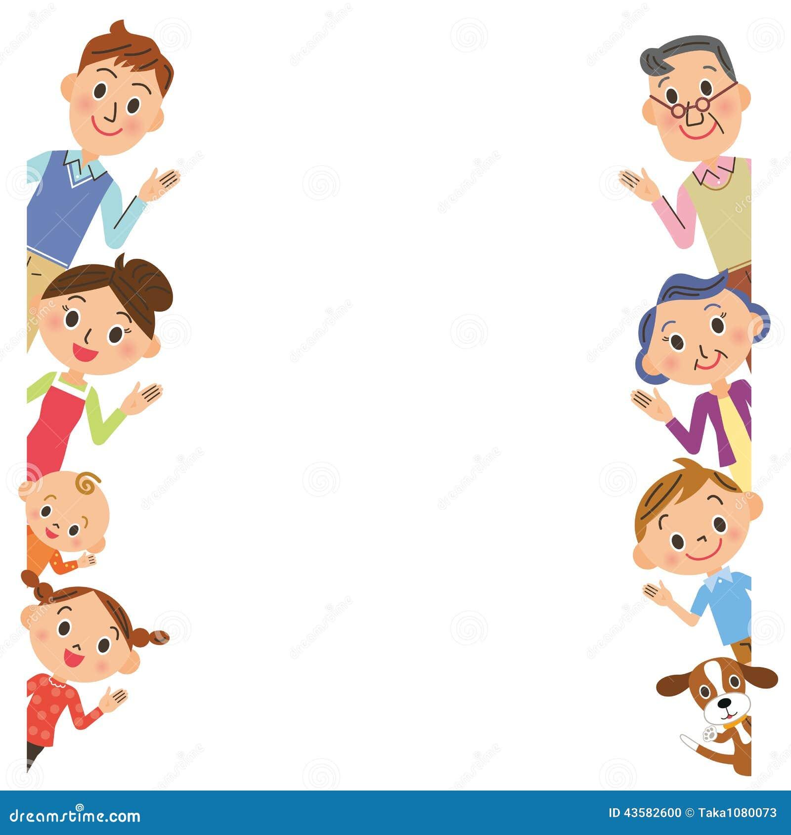 family pose frame stock vector illustration of family 43582600