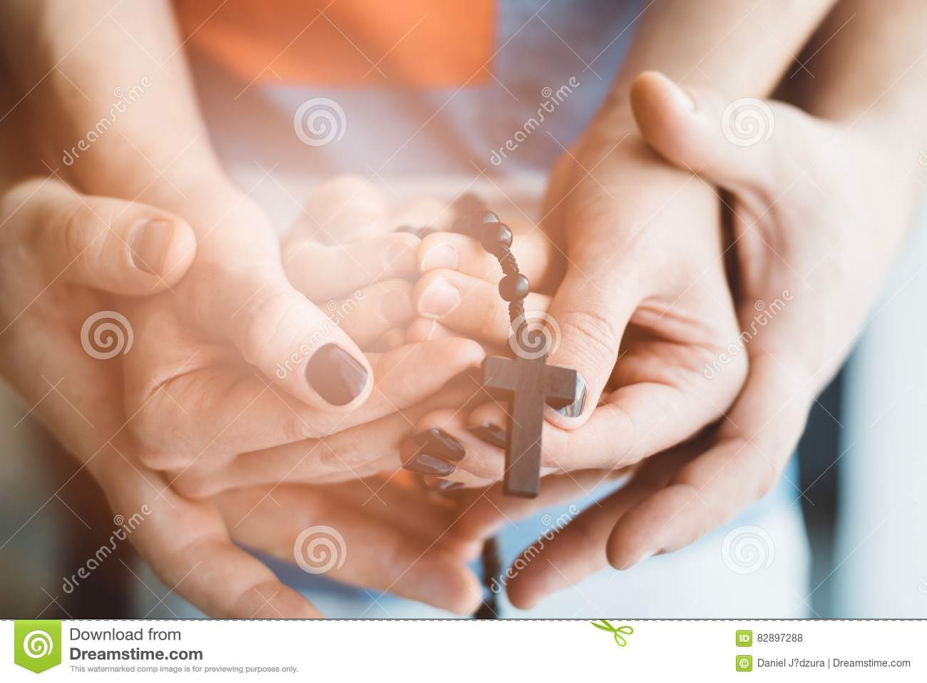 Family praying together. stock photo. Image of love, hope ...