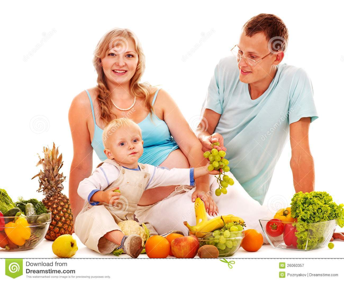 Family Pregnant Woman Preparing Food . Royalty Free Stock Photography ...