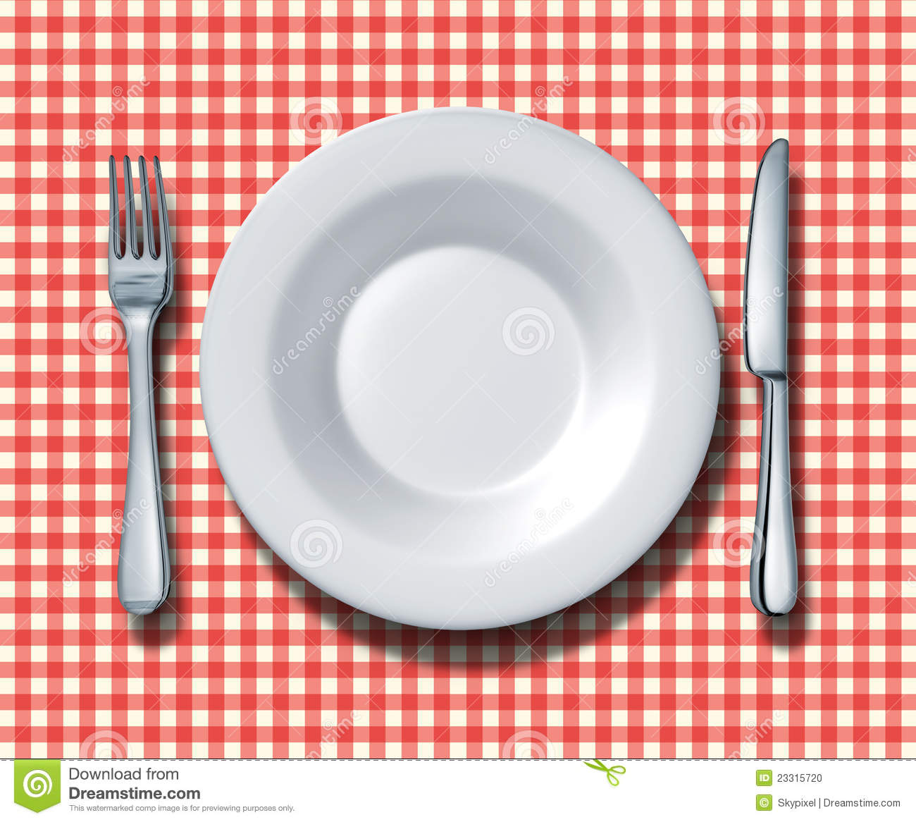 Family Restaurant Place Setting Stock Photo Image 23315720