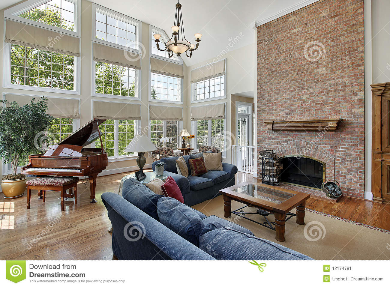family room two story fireplace stock photos 60 images