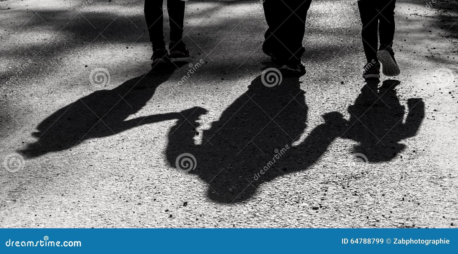Family Shadow Stock Photo - Image: 64788799