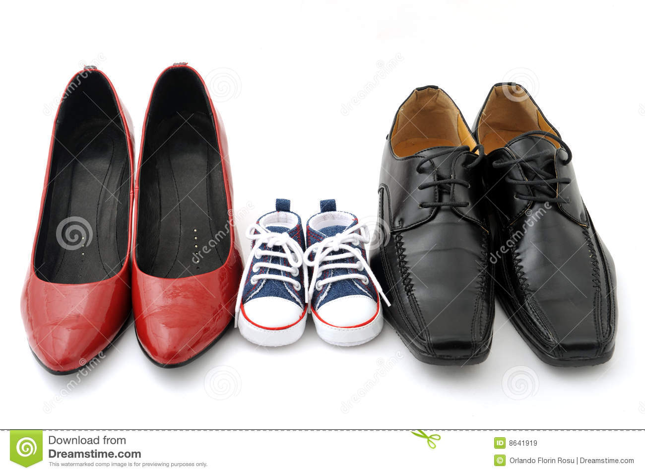 Family Shoes Royalty Free Stock Images Image 8641919