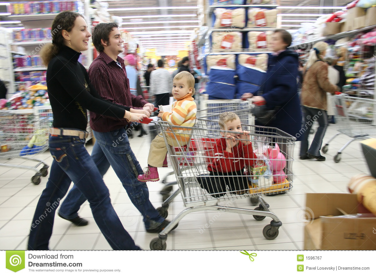 Download Family in shop stock image. Image of brother, family, lifestyle - 1596767