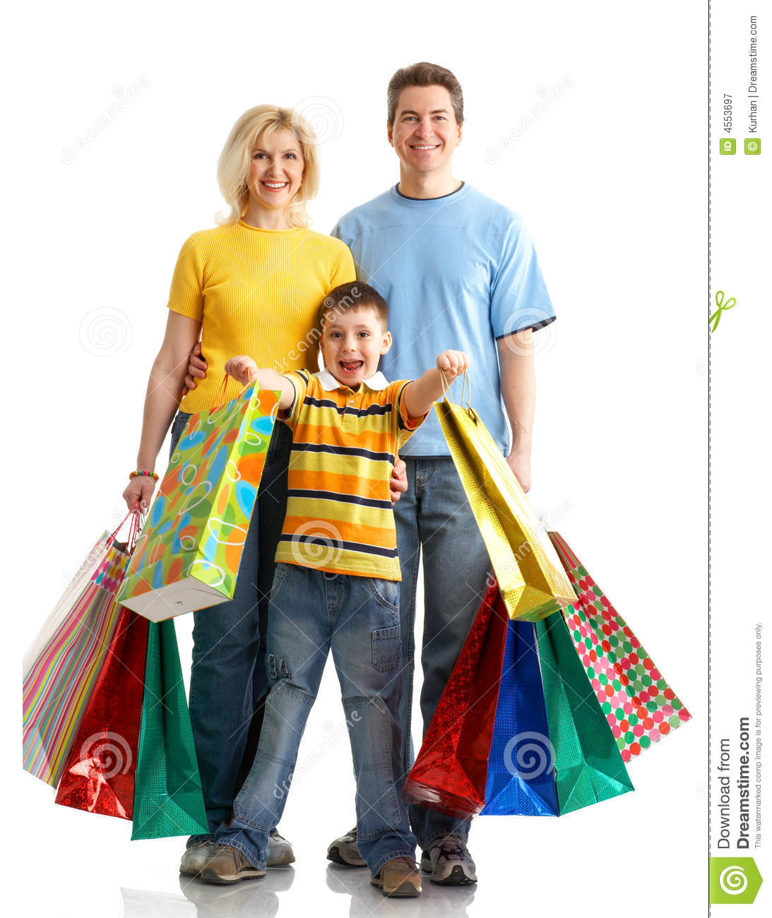 Household Stores: Family Shopping Royalty Free Stock Photography