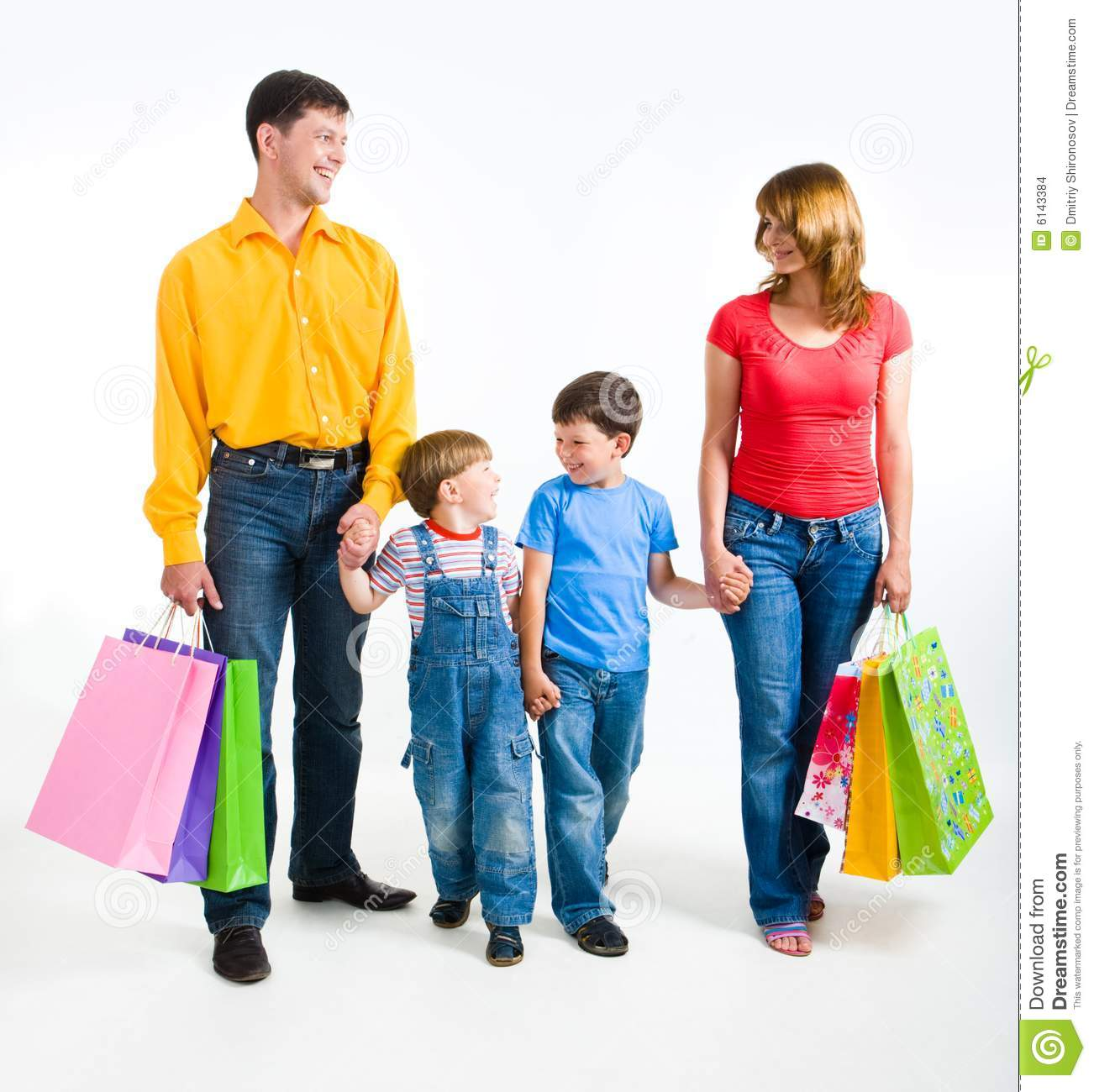 Family Shopping Stock Images - Image: 6143384