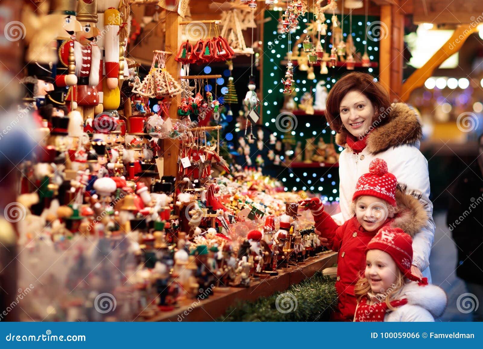 Family Shopping Christmas Presents Stock Photo - Image of handmade ...