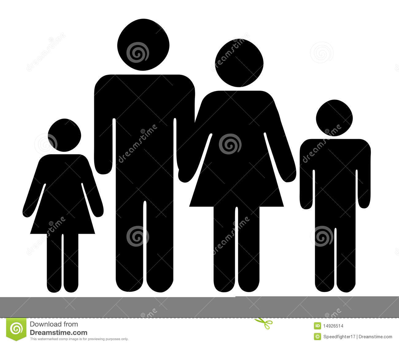family silhouette stock images image 14926514