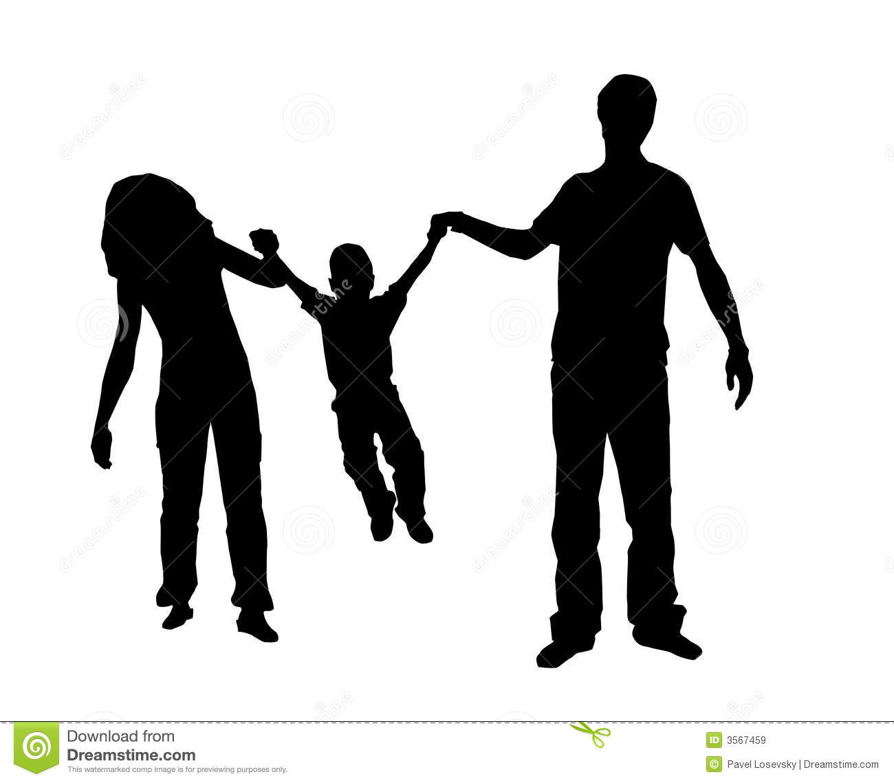 Family Silhouette Royalty Free Stock Images - Image: 3567459