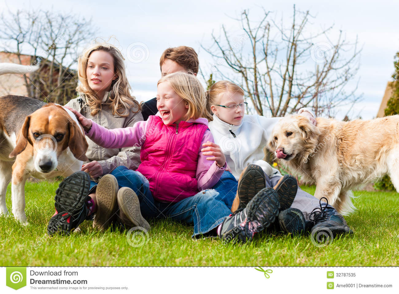 Mom And Daughter Walking The Dog Royalty Free Stock Photo ... |Dog Mom And Daughter