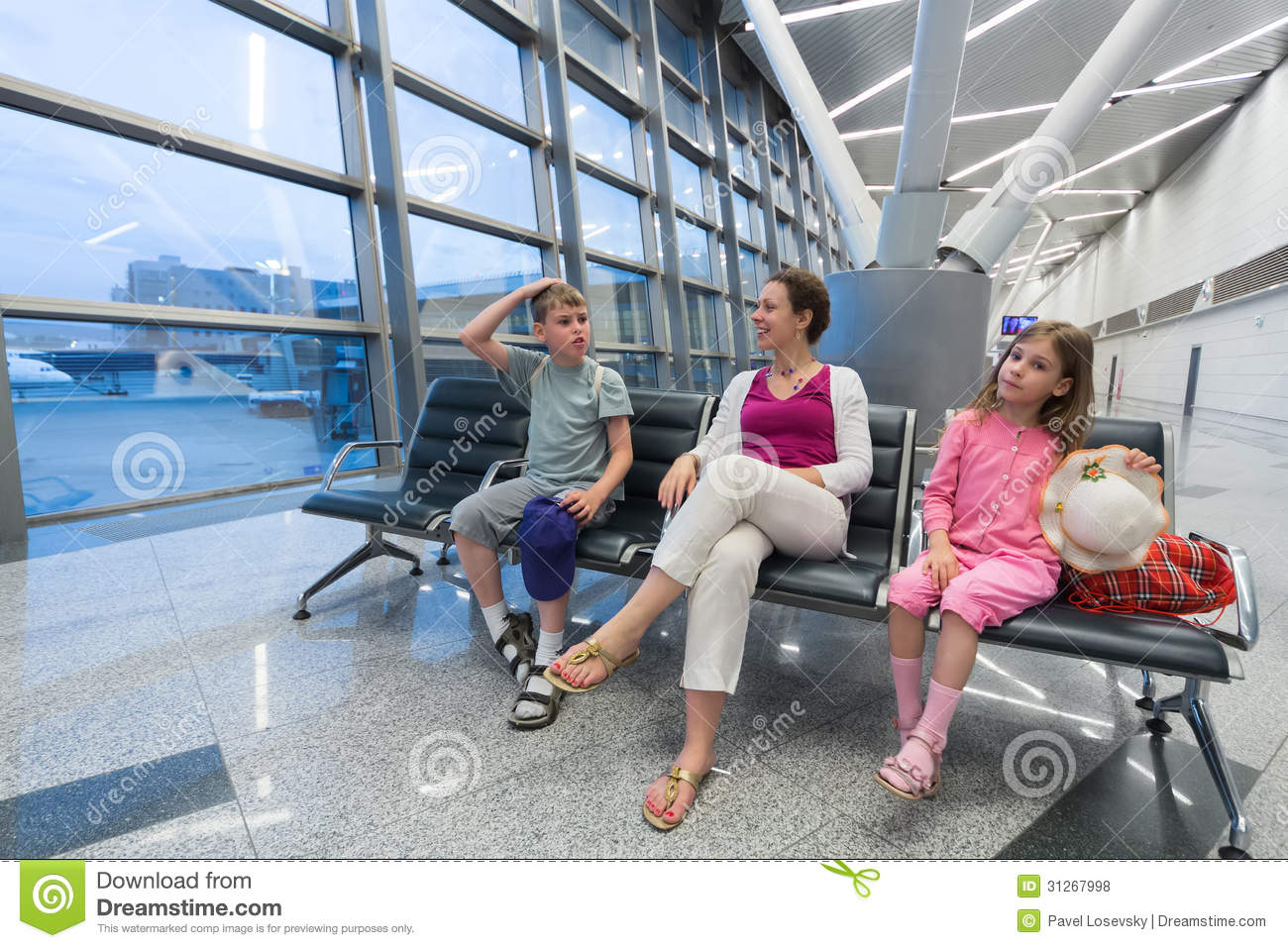 A family sitting in a recreation area