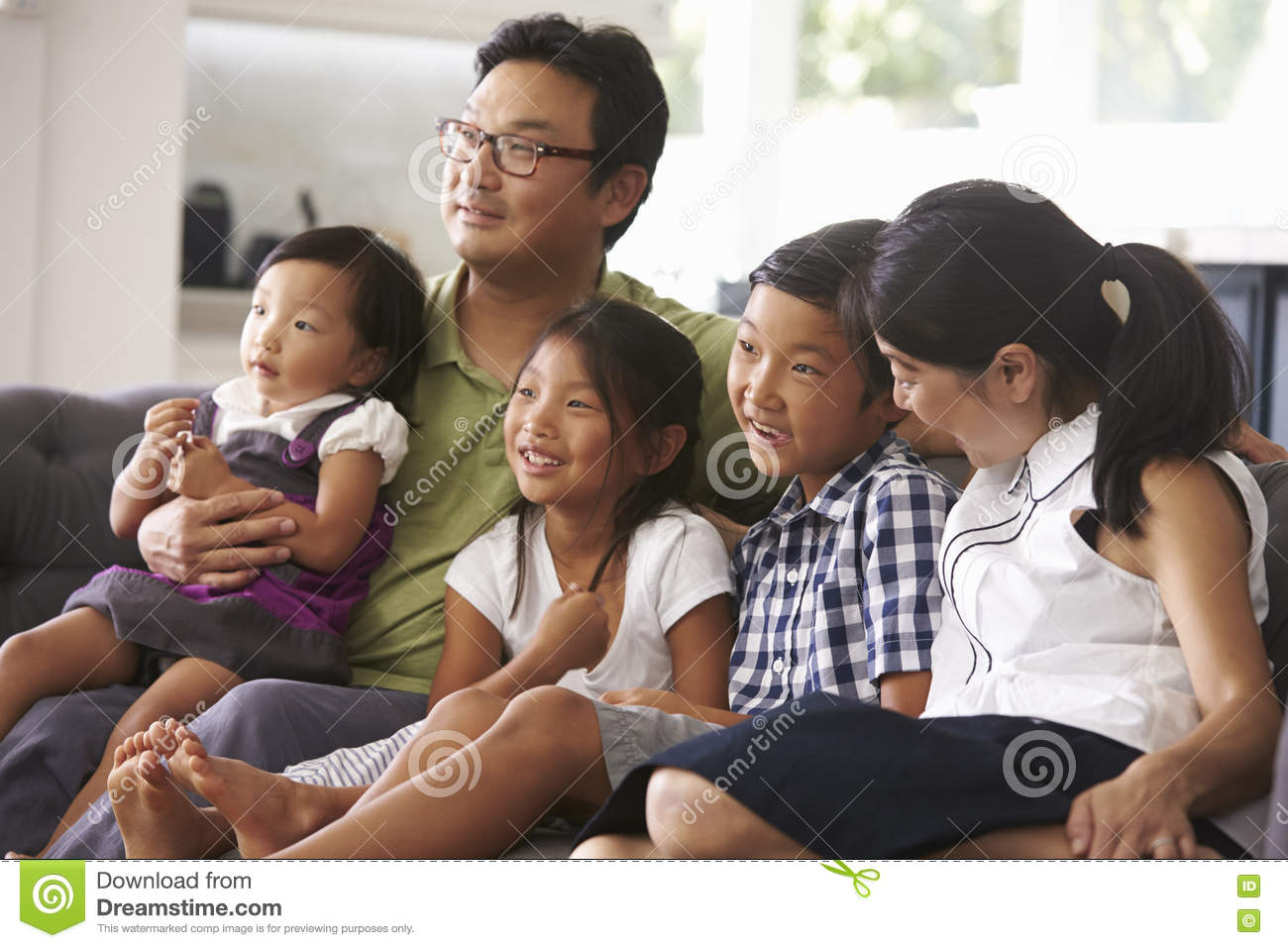 family watching tv together cartoon vector cartoondealer