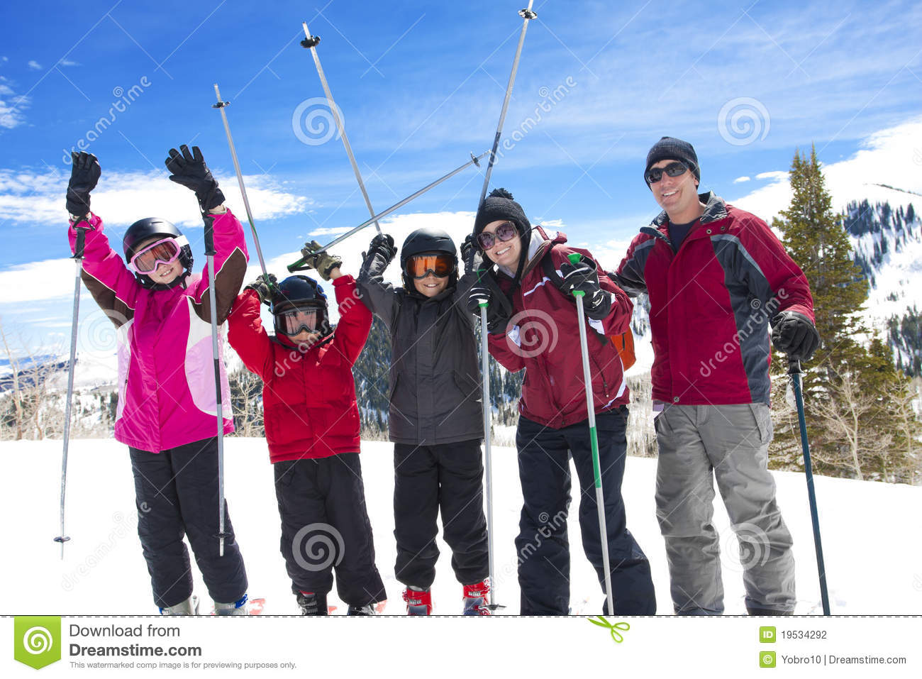 Family on a Ski Vacation
