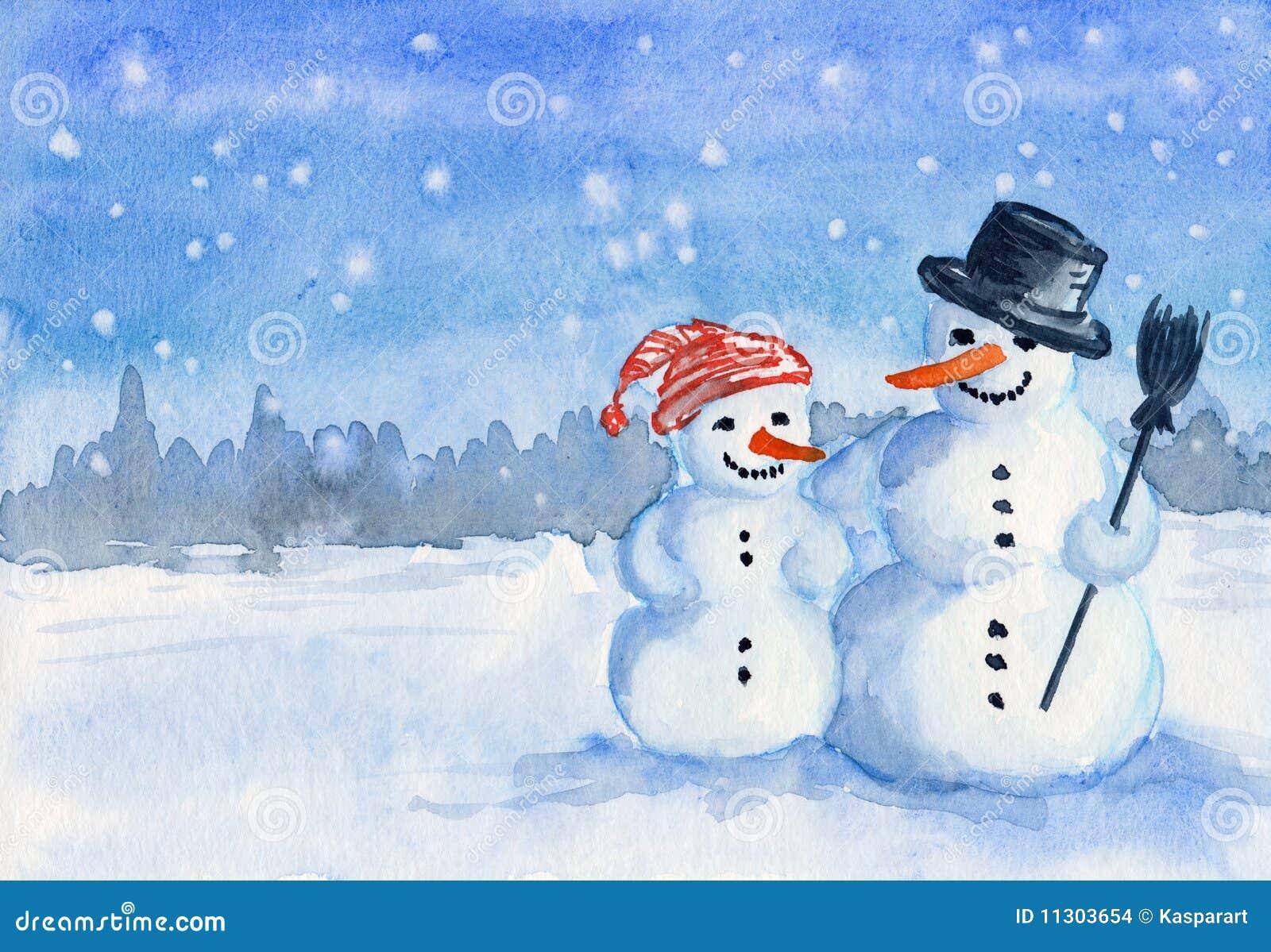 Family snowman stock images image 11303654 - Bonhomme de neige decoration exterieure ...