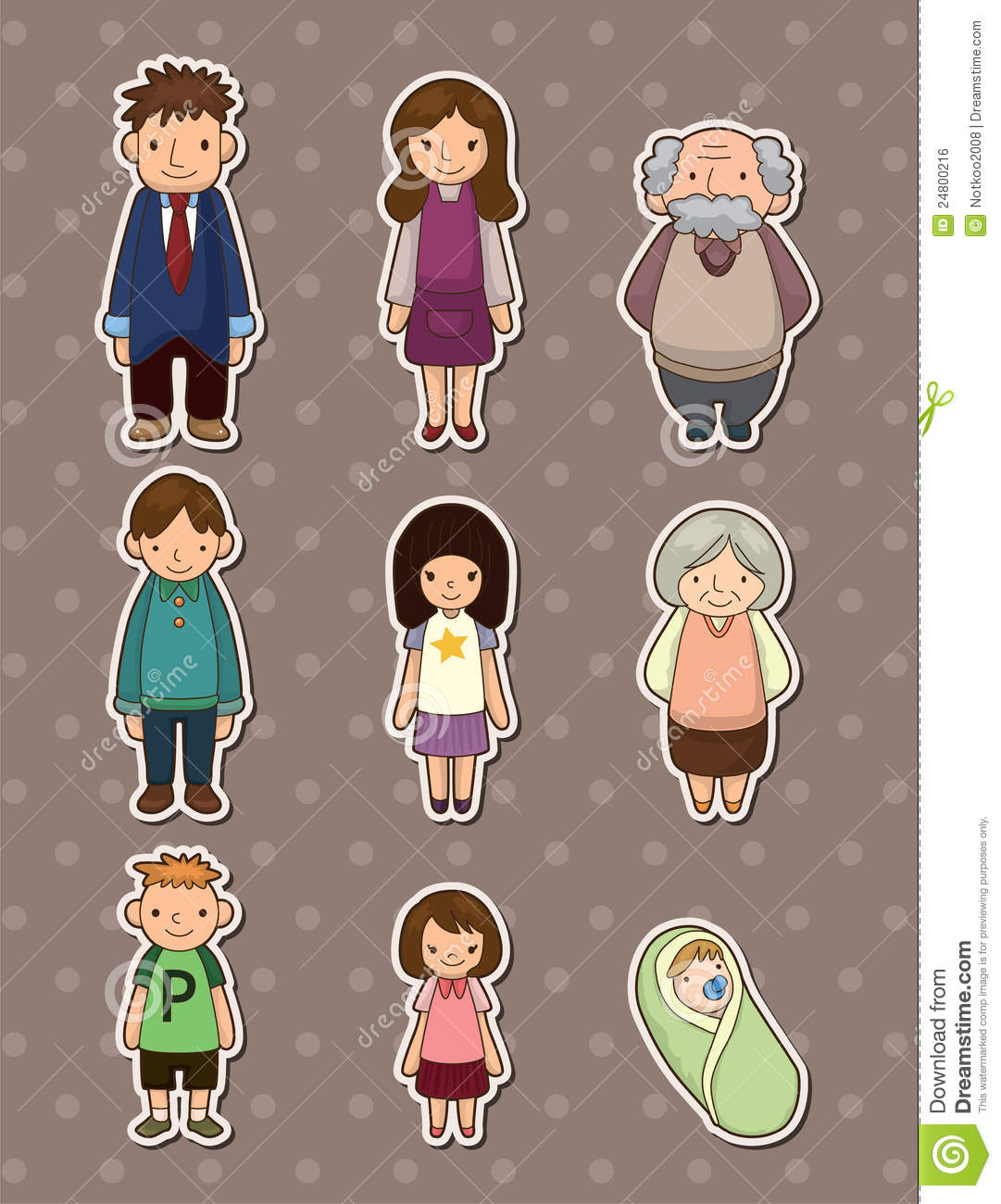 Family Stickers Royalty Free Stock Image - Image: 24800216