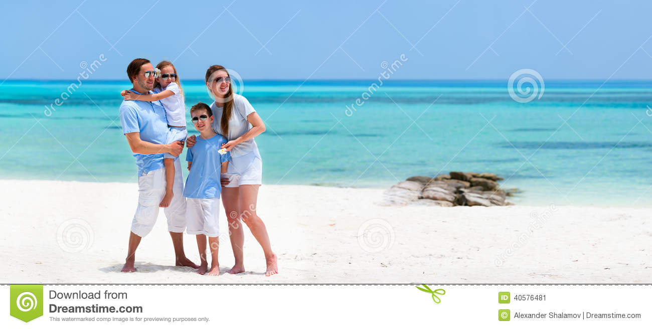 Family on summer vacation