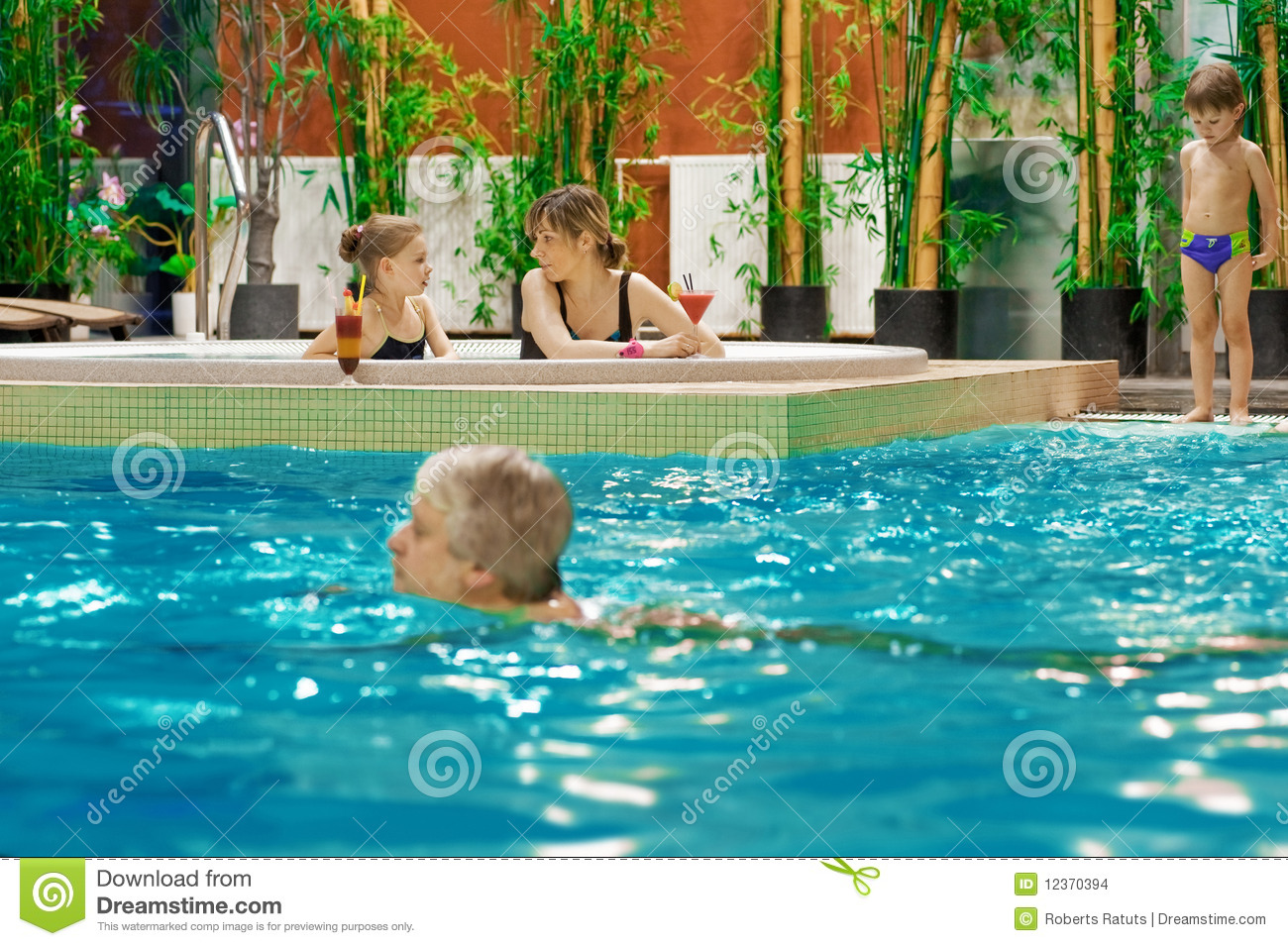 Family in swimming pool stock images image 12370394 for Family swimming pool
