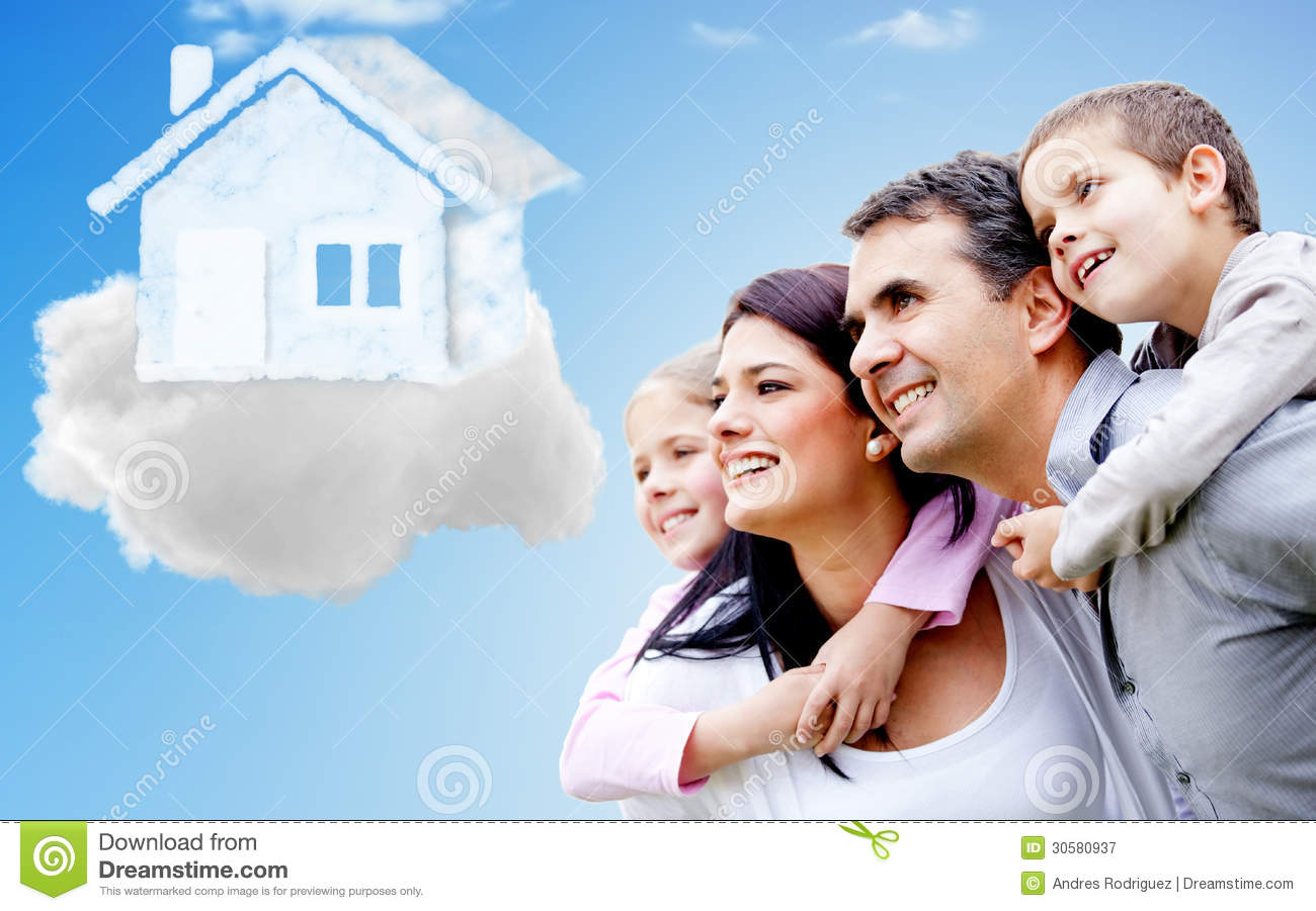Family Thinking Of Their Dream House Stock Image Image