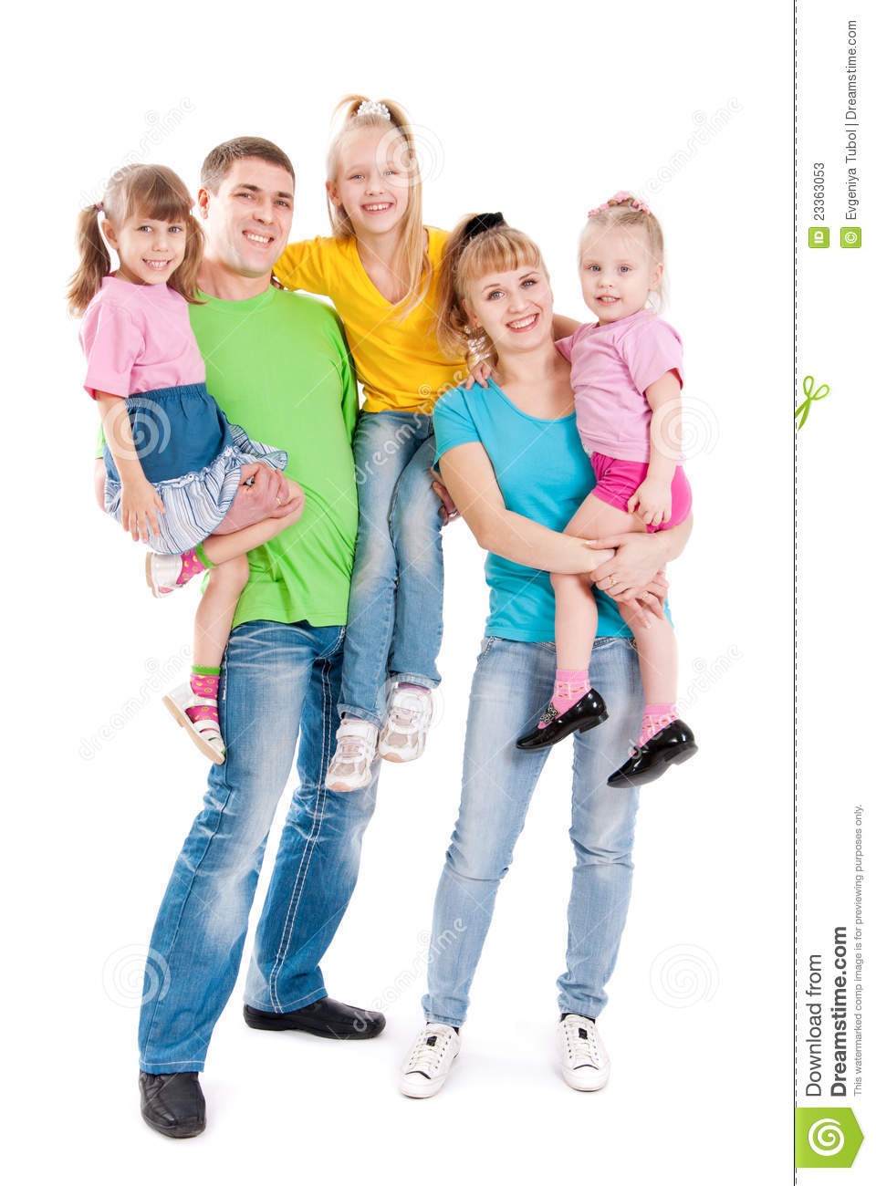 Family with three daughters