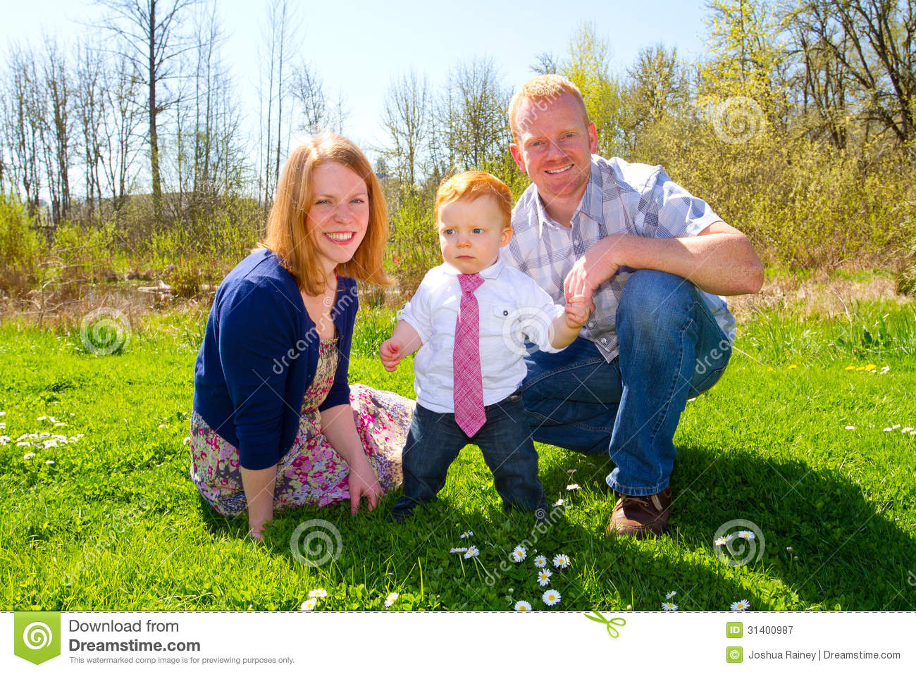 Family Of Three At Park Royalty Free Stock Photography