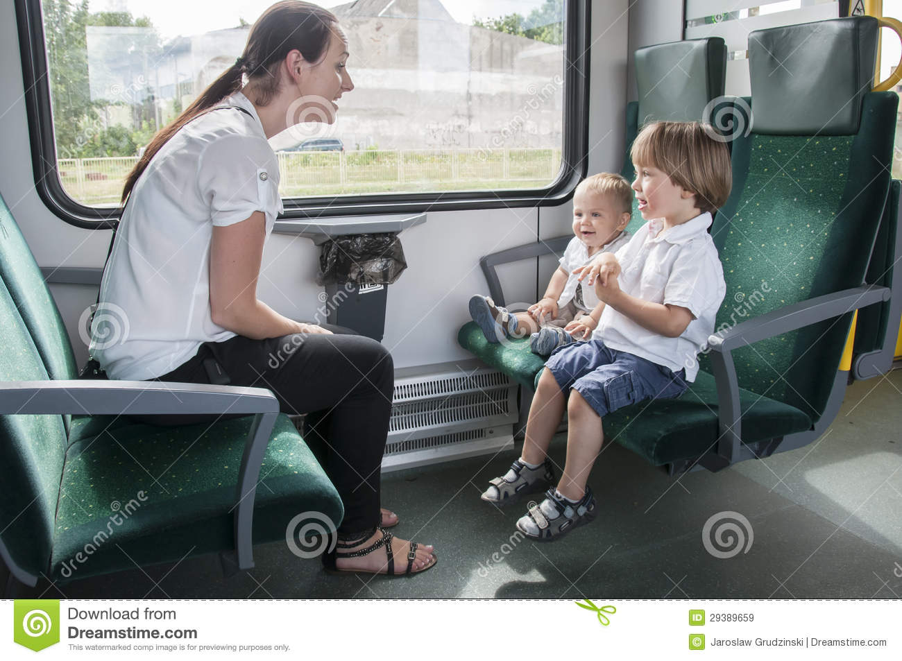 Family on the train