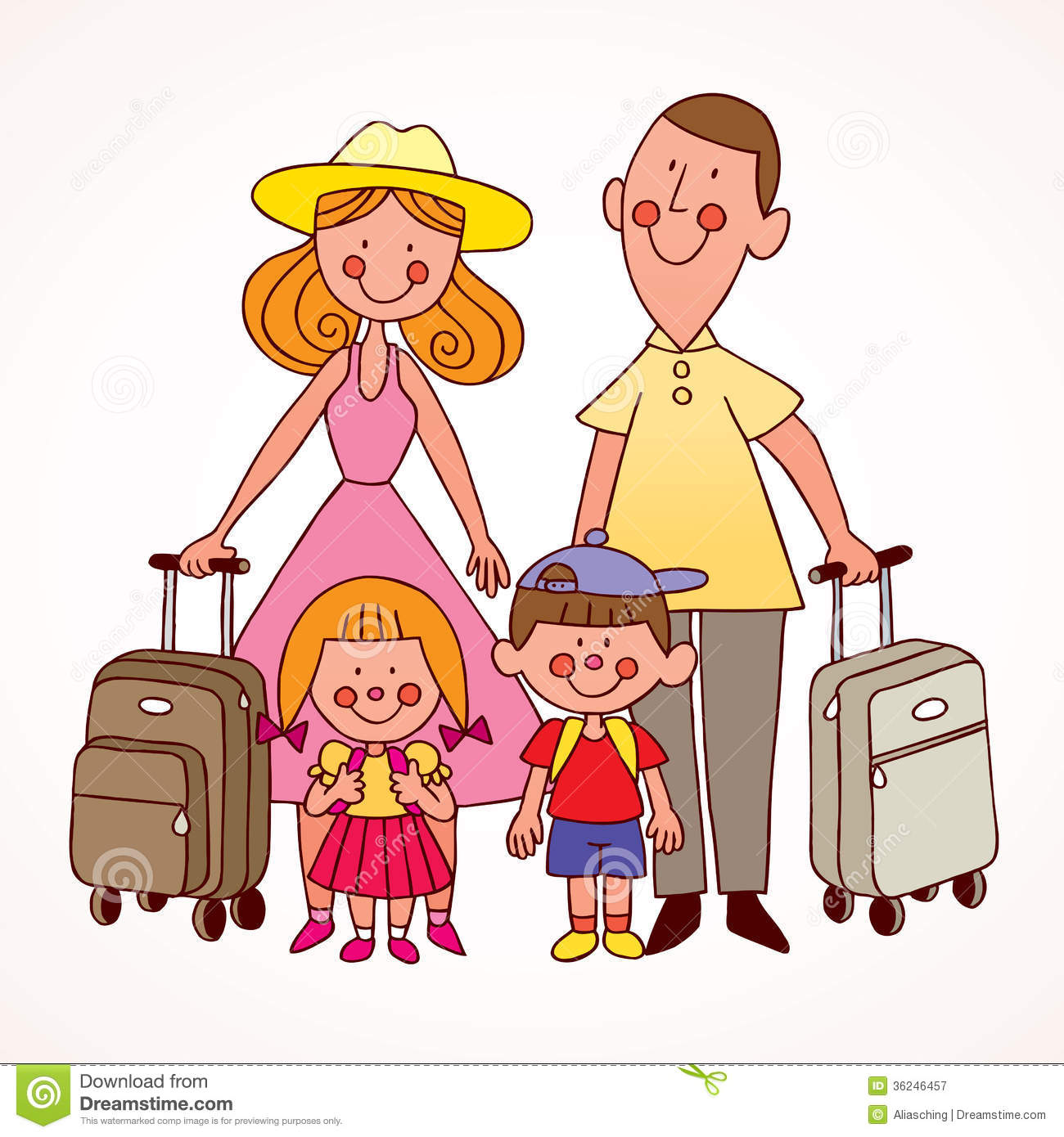 Family Travel Royalty Free Stock Photography - Image: 36246457