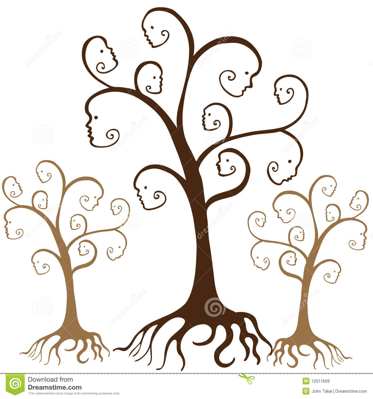 family tree stock vector illustration of heritage face 12011609