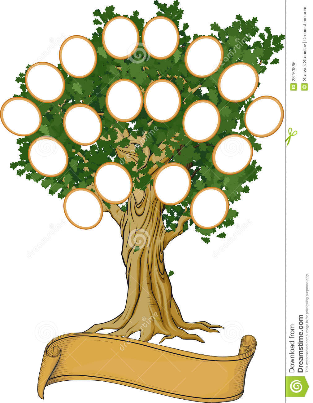 Family tree stock vector. Illustration of isolated ...
