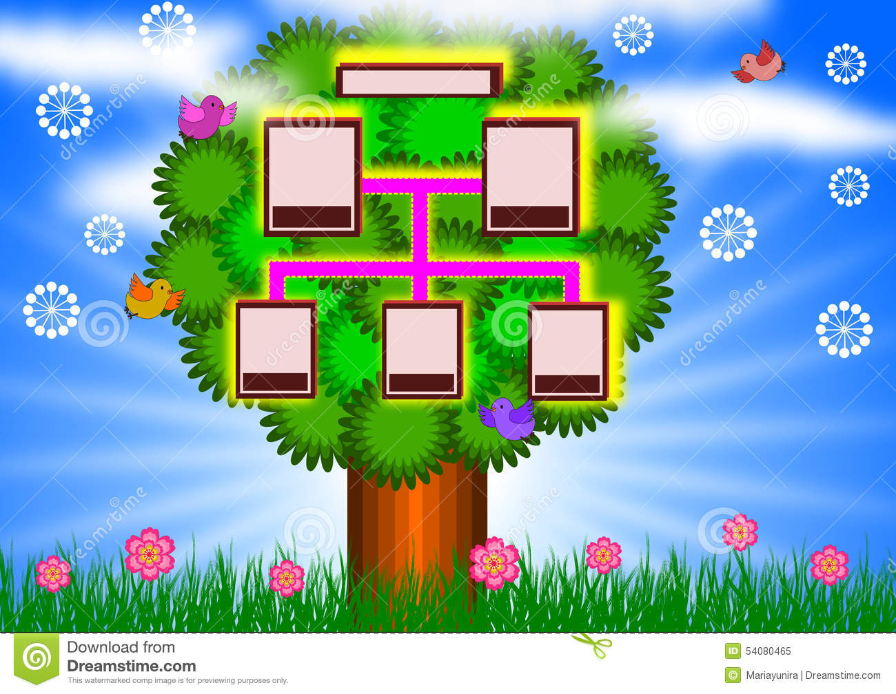 Family Tree Background Stock Illustration - Image: 54080465